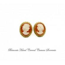 Traditional Cameo Earrings