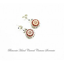 """Daisy, The Flower of Joy"" Cameo Earrings"