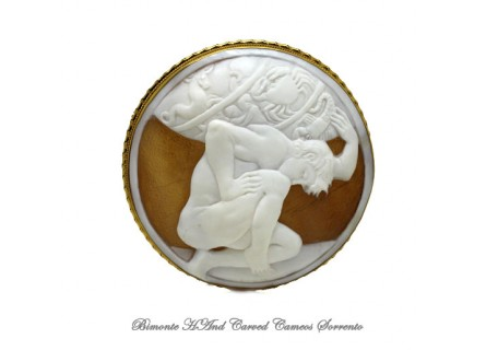 """Atlas"" Cameo Brooch and Pendant"