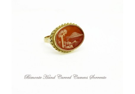 """""""The Bay of Naples"""" Cameo Ring"""