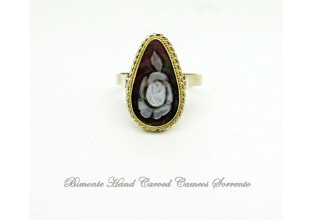 """""""A Bright Rose"""" Cameo Ring"""