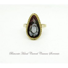 """A Bright Rose"" Cameo Ring"