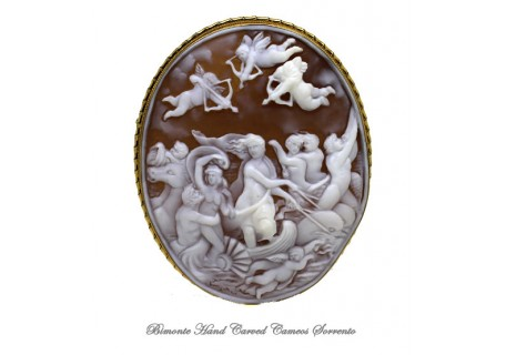 """Il Trionfo Di Galatea"" Cameo Brooch and Pendant"