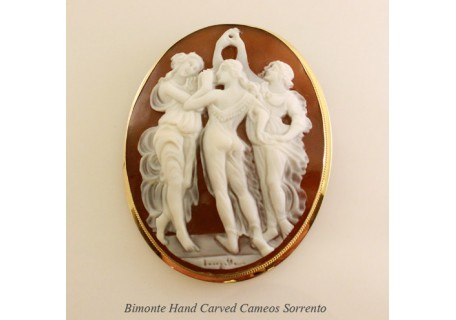 """Botticelli's Three Graces"" Cameo"