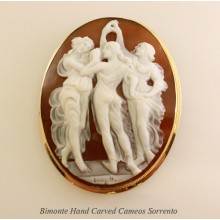 """""""Botticelli's Three Graces"""" Cameo"""