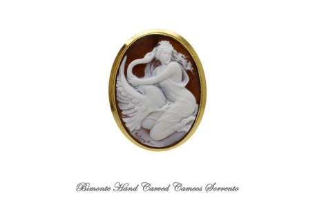 """""""Leda and the Swan """" Cameo"""
