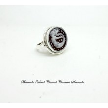"""""""The Siren of Sorrento"""" Cameo Ring"""