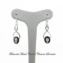 """Cocò"" Black Cameo Earrings"