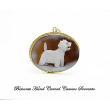 """West Highland Terrier"" Cameo Pendant"