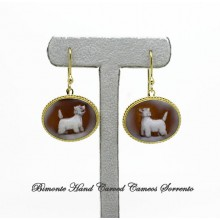 """""""West Highland Terrier"""" Cameo Earrings"""