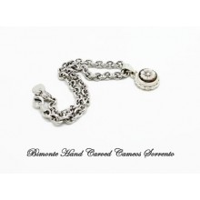 """Flower of Joy"" Cameo Charm Bracelet"