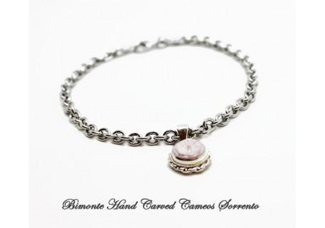 """Flower of Joy"" Cameo Charm Bracelet"