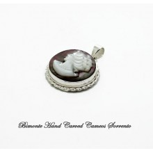 Old Mother of Pearl Cameo Pendant