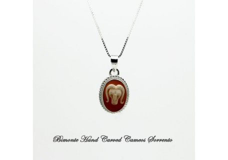 """""""Aries"""" Zodiac Sign Cameo Necklace"""