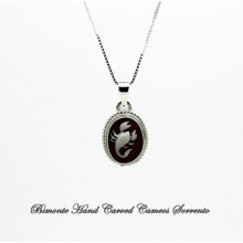 """Scorpio"" Zodiac Sign Cameo Necklace"