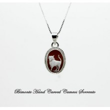 """Taurus"" Zodiac Sign Cameo Necklace"