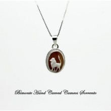 """Leo"" Zodiac Sign Cameo Necklace"