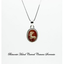 """Sagittarius"" Zodiac Sign Cameo Necklace"