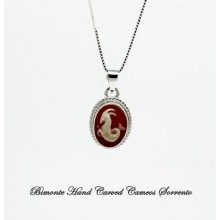 """Capricorn"" Zodiac Sign Cameo Necklace"