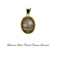 """White Rose"" Cameo Pendant"