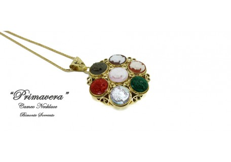 """Primavera"" Cameo Necklace"