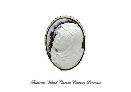 """""""In The Rain"""" Cameo Brooch and Pendant"""