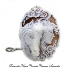 """The Girl and the Horse"" Cameo Necklace"