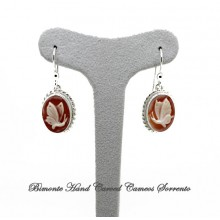 """Butterfly"" Cameo Earrings"