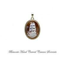 """Sailing Ship"" Cameo Pedant"