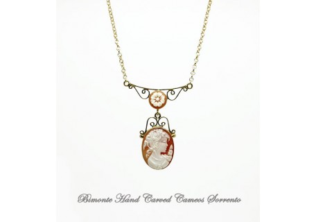 """Filigrana"" Flora Cameo Necklace"