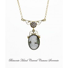 """Filigrana"" Mother of Pearl Cameo Necklace"