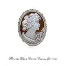 """Young Flora"" Cameo Brooch and Pendant"