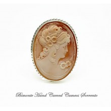 """Flora"" Cameo Brooch and Pendant"
