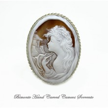 """Beatrice"" Cameo Brooch and Pendant"