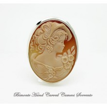 """""""The Ribbon"""" Cameo Brooch and Pendant"""