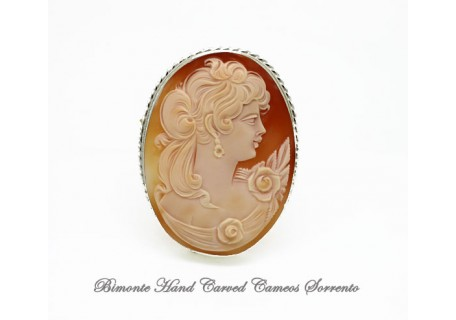"""""""Rosa"""" Cameo Brooch and Pendant"""