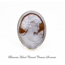 """""""Young Girl"""" Cameo Brooch and Pendant"""