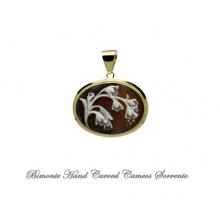 """Lily of the Valley"" Cameo Pendant"