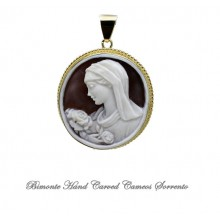 """Madonna of the Roses"" Cameo Pendant"
