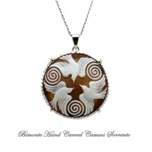 """Celtic Doves"" Cameo Necklace"