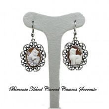"""Cats"" Cameo Earrings"