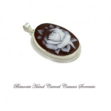 """The White Rose"" Cameo Pendant"