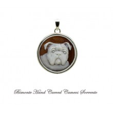 """English Bulldog"" Cameo Pendant"