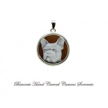 """French Bulldog"" Cameo Pendant"
