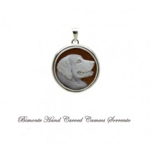 """Golden Retriver"" Cameo Pendant"