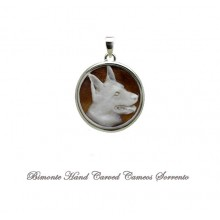 """German Shepherd"" Cameo Pendant"
