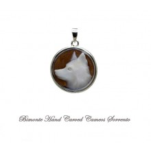 """Border Collie"" Cameo Pendant"