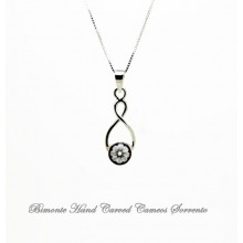 """Infinito"" Flower of Joy Cameo Necklace"