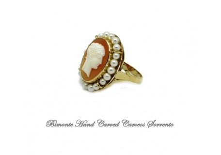 """Giuno"" Antique Cameo Ring"