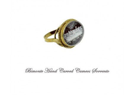 """""""Last Supper"""" Miniature Cameo Ring"""